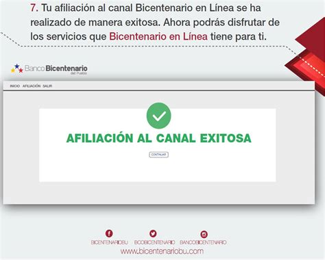 Pasos Afiliación a Banco Bicentenario en Línea   Gremio ...