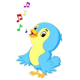 Pássaro cantando com notas musicais   Download Ícones ...