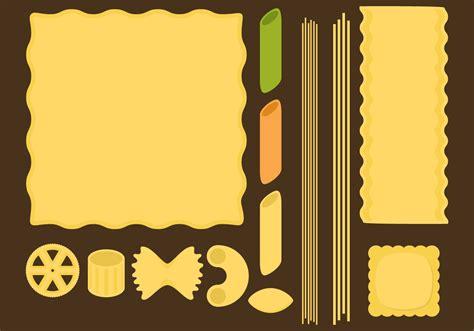 Pasta Type Vectors   Download Free Vectors, Clipart ...