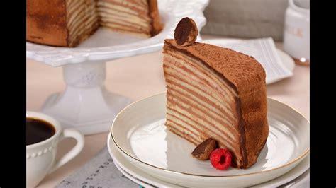 Pastel de Chocolate con Crepas SIN HORNO   Pastel de ...