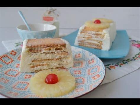 Pastel de galletas napolitanas y piña | Sin horno   YouTube
