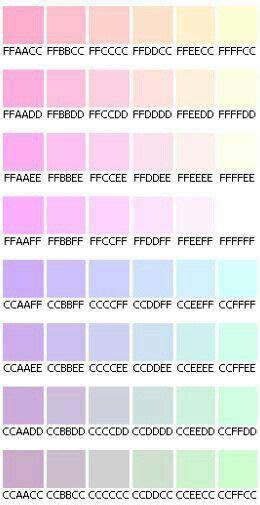 Pastel hex codes   Color schemes, Pastel colors, Vaporwave