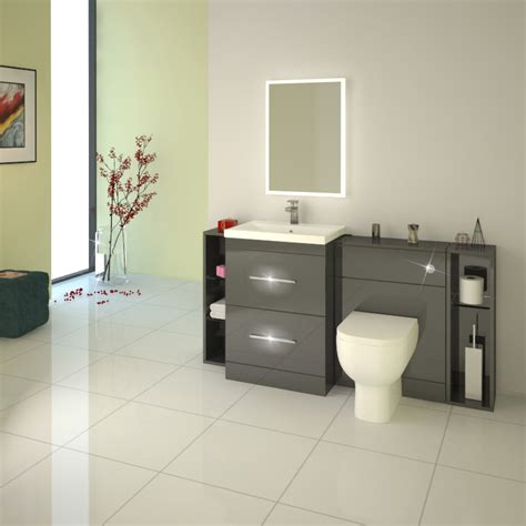 Patello 1600 Fitted Bathroom Furniture Grey Buy Online at ...