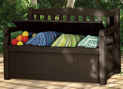 Patio Storage Bench   Small Patio Furniture   9 Double ...
