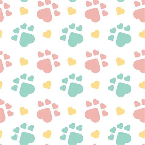 Patrón sin costuras lindo perro huella | Vector Premium