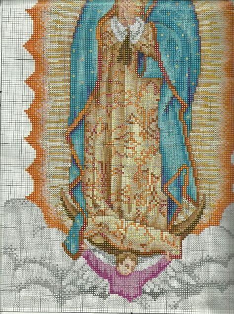 Patrones en punto de cruz de la Virgen de Guadalupe ...