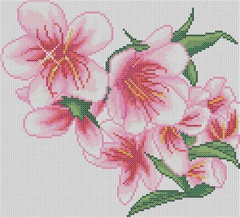 Patrones punto de cruz gratis en formato PDF: Flowers ...