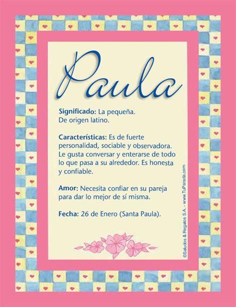 Paula, P, tarjetas