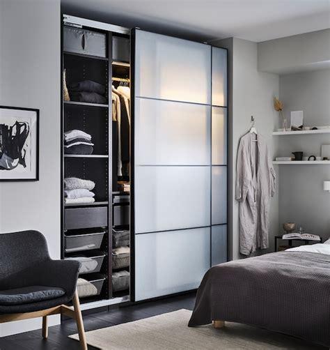PAX black brown, 2 wardrobe frames, 200x35x236 cm   IKEA