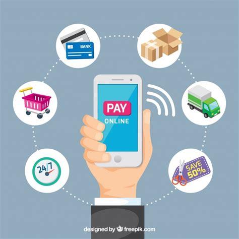 Pay online, telefono cellulare | Scaricare vettori gratis