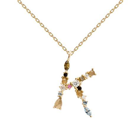 PD PAOLA | Gold Necklace  K  | 18K Gold Plating   kadonodig