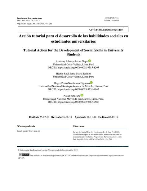 PDF  Acción tutorial para el desarrollo de las ...