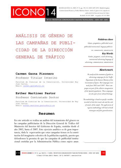 PDF  Análisis de Género de las Campañas de Publicidad de ...