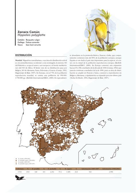 PDF  Bermejo, A. & De la Puente, J. 2003. Zarcero Común ...
