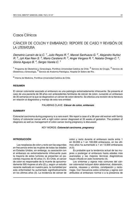 PDF  CÁNCER DE COLON Y EMBARAZO: REPORTE DE CASO Y ...