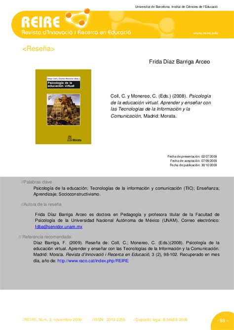 PDF  César Coll y Carles Monereo  Eds . Psicología de la ...