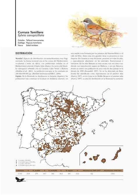 PDF  Curruca Tomillera_Sylvia conspicillata  Atlas de las ...