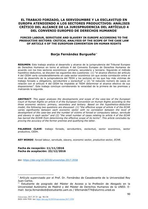 PDF  El trabajo forzado, la servidumbre y la esclavitud ...