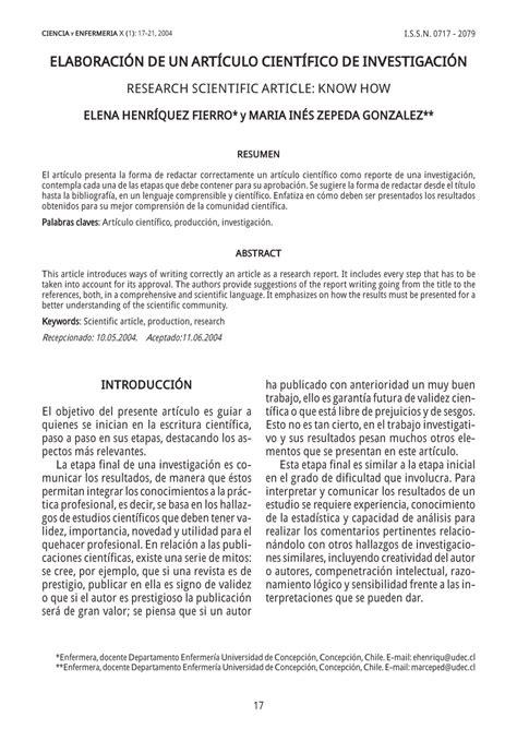 PDF  ELABORACIÓN DE UN ARTÍCULO CIENTÍFICO DE INVESTIGACIÓN