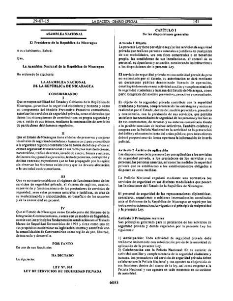 PDF  G Ley No 903, Ley de Servicios de Seguridad Privada ...