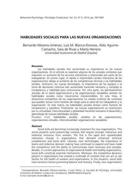 PDF  Habilidades Sociales para las Nuevas Organizaciones