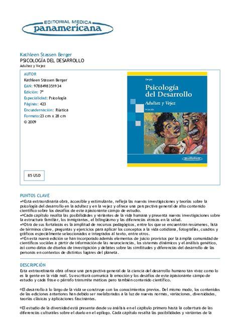 PDF  Kathleen Stassen Berger PSICOLOGÍA DEL DESARROLLO ...