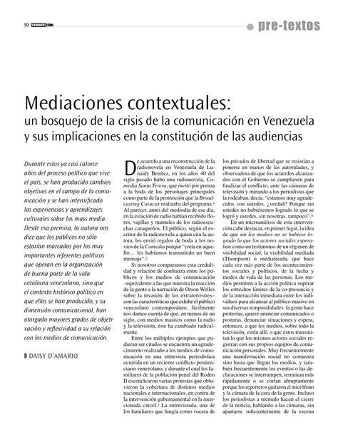 PDF  Mediaciones contextuales: un bosquejo de la crisis ...