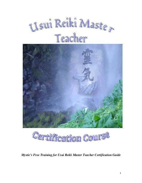 PDF  Mystic s Usui Reiki Master Teacher Manual | Roger ...