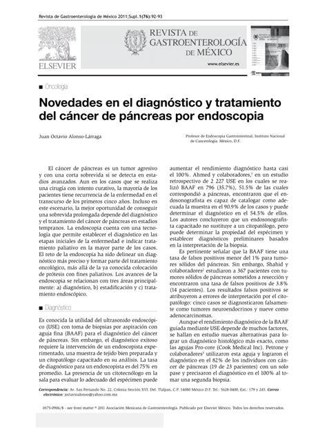 PDF  NOVEDADES EN EL DIAGNOSTICO Y TRATAMIENTO DEL CANCER ...