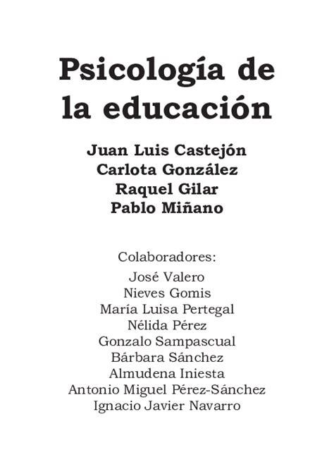 PDF  Psicología de la educación | ana maria ruz navarro ...