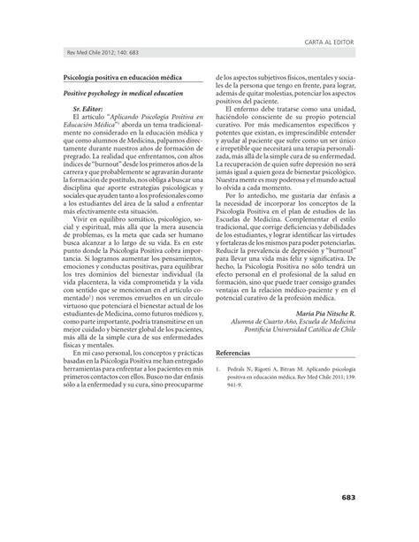 PDF  Psicología positiva en educación médica
