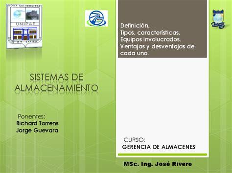 PDF  Sistema de Almacenamiento presentacion | Jorge ...