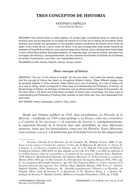 PDF  Tres conceptos de historia