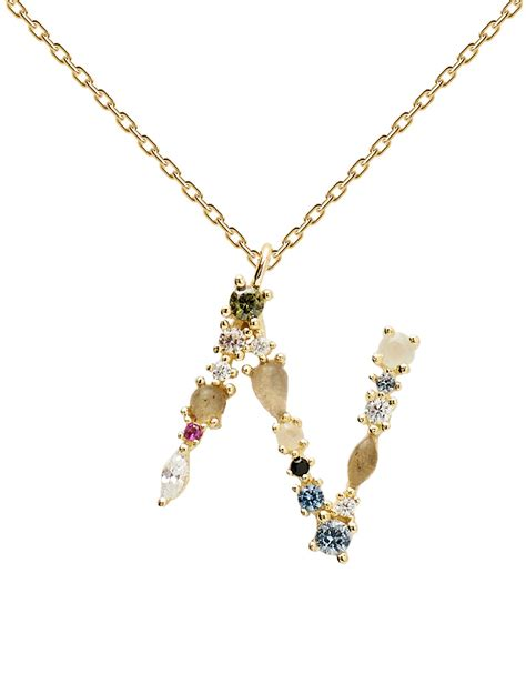 Pdpaola Women s Letter N Plated Necklace | Fruugo US