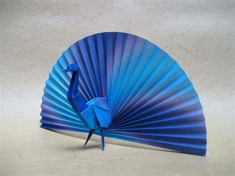 Peacock | Origami paper, two sheets cm 15x15 and 12x12. x ...
