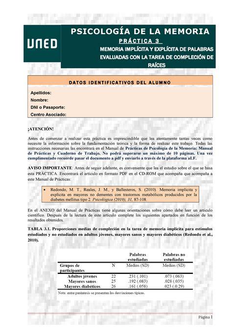 PEC Psicología Memoria   Memoria Implícita y explícita 16 ...