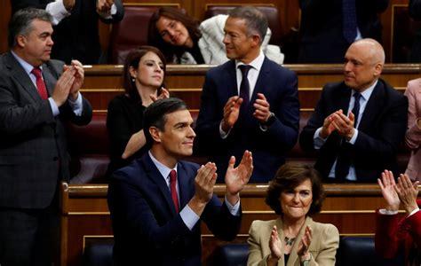 Pedro Sánchez, investido presidente del Gobierno en ...