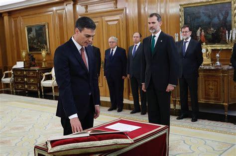 Pedro Sánchez, primer presidente del Gobierno de la ...