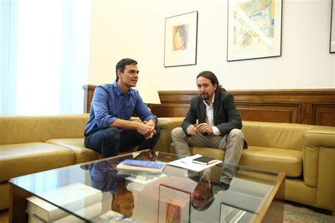 Pedro Sánchez y Pablo Iglesias mantienen un primer ...