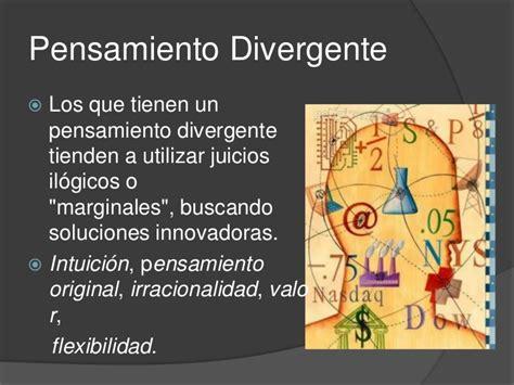 Pensamiento convergente y divergente
