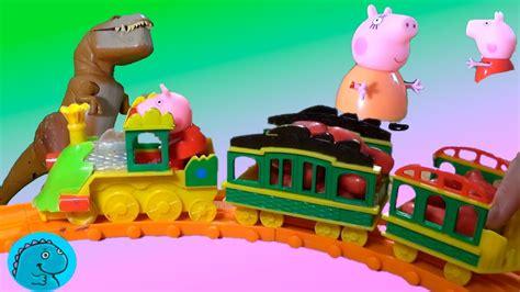 Peppa Pig en Dinotren al Parque Dinosaurios y Juguetes ...
