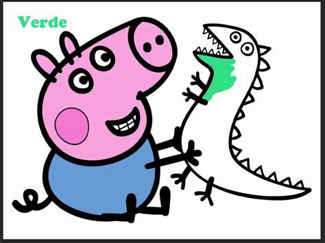 Peppa Pig pintando a george y su dinosaurio   YouTube