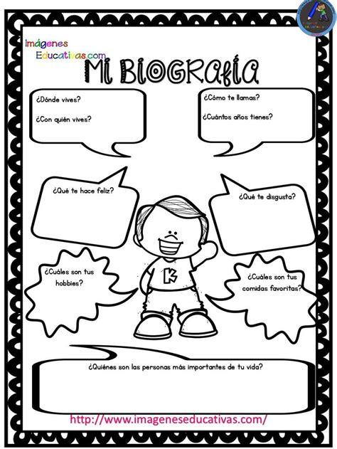 Pequeñas Autobiografías para niños de infantil y primaria ...