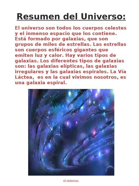 PEQUEÑO RESUMEN DEL UNIVERSO Y EL SISTEMA SOLAR JAVI ...