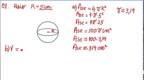 Perimetro De Una Esfera Formula