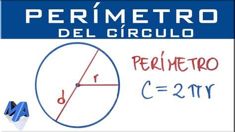 Perímetro del circulo  medida de la circunferencia    YouTube