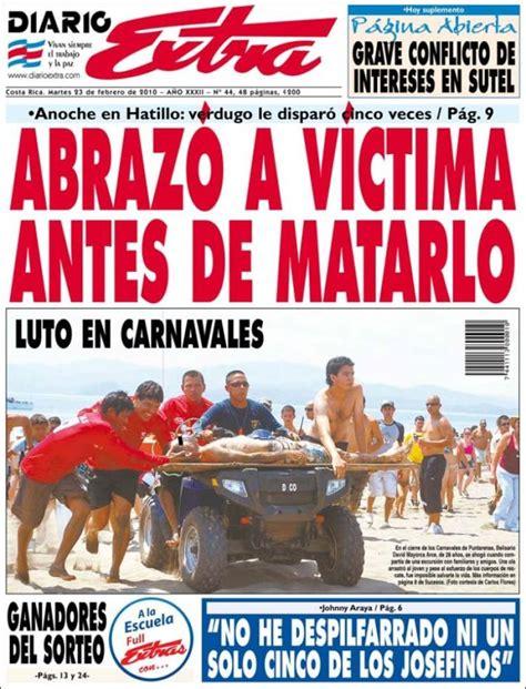 Periódico Diario Extra  Costa Rica . Periódicos de Costa ...