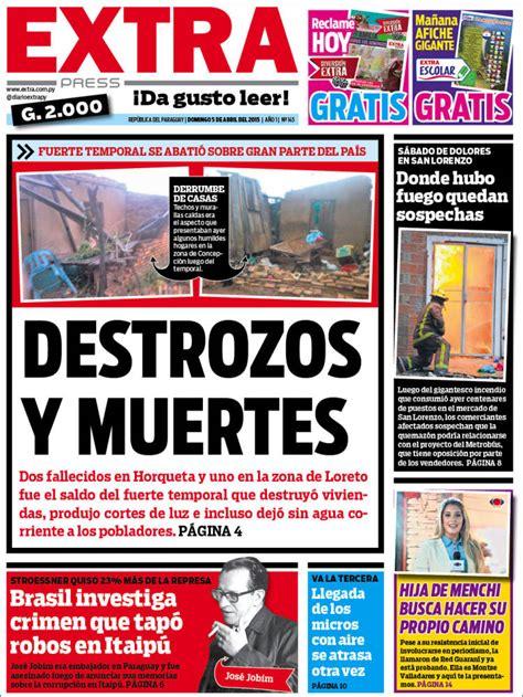 Periódico Diario Extra  Paraguay . Periódicos de Paraguay ...