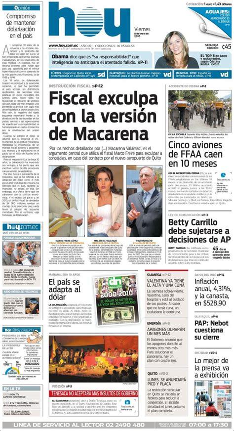 Periódico Diario Hoy  Ecuador . Periódicos de Ecuador ...
