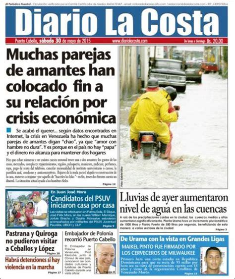 Periódico Diario La Costa  Venezuela . Periódicos de ...